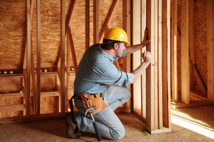 Image of construction contractor working